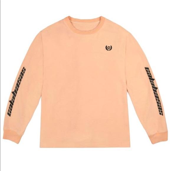 Yeezy Neon Orange Calabasas Long Sleeve
